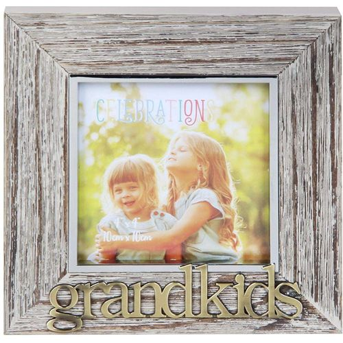 "Celebrations Sentiment Photo Frame 4"" x 4"" - Grandkids"