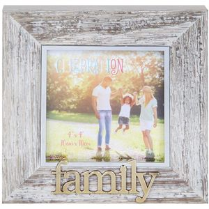 "Celebrations Sentiment Photo Frame 4x4"" - Family"