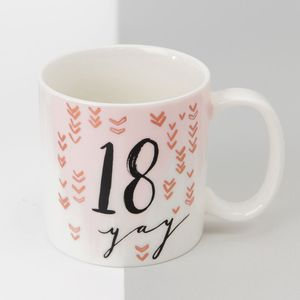 Hotchpotch Luxe Birthday Ceramic Mug - 18 (Female)