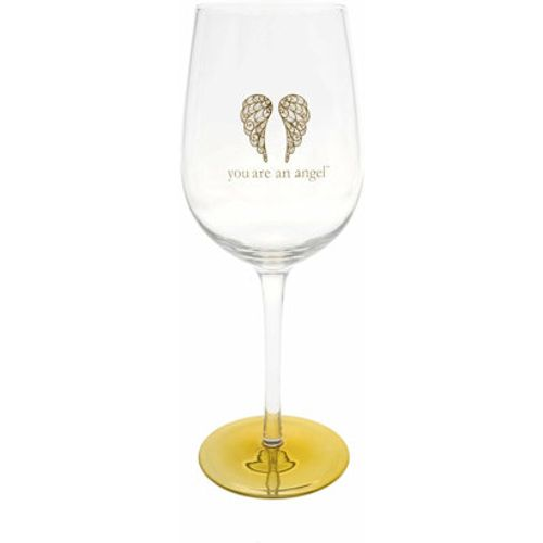You Are An Angel Wine Glass - Mother & Daughter