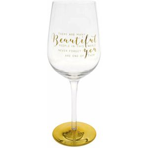 You Are An Angel Wine Glass - Beautiful People