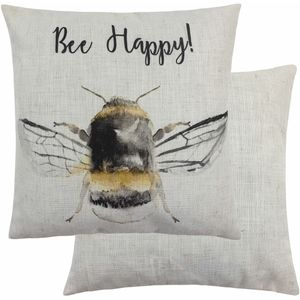 Evans Lichfield Busy Bees Collection Cushion: Always Bee-lieve 43cm x 43cm