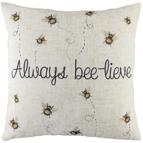Evans Lichfield Bee Cushion: Always Bee-lieve 43cm