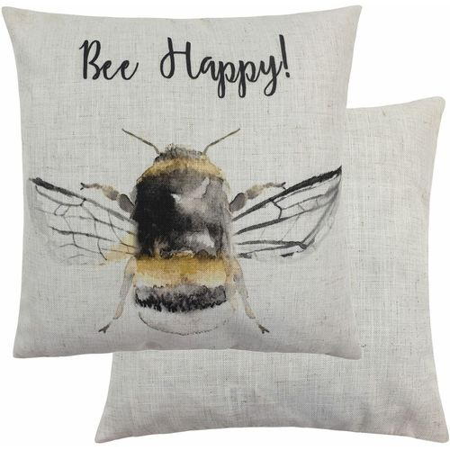 Evans Lichfield Busy Bees Collection Cushion: Bee Happy!  43cm x 43cm
