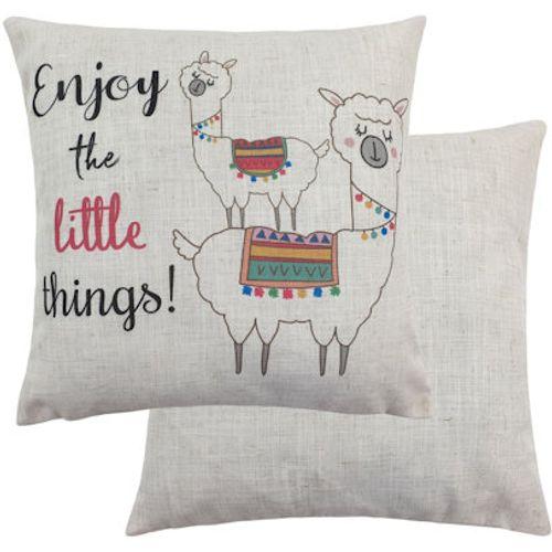 Evans Lichfield Fantasy Collection Cushion: Alpaca Enjoy 43cm x43cm