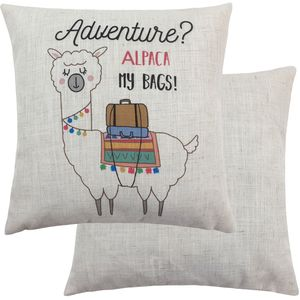 Fantasy Alpaca My Bags Cushion (43cm)