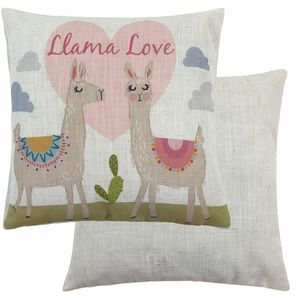 Fantasy Llama Love Cushion (43cm)