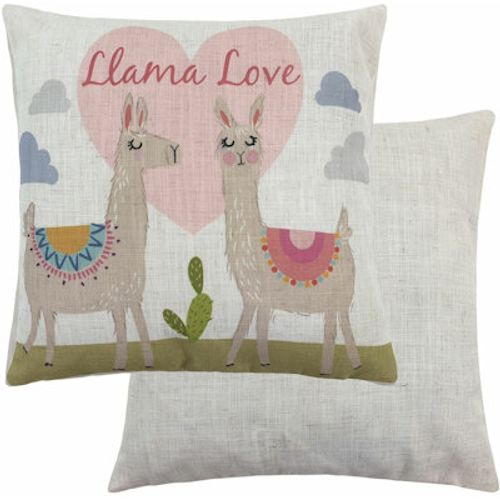 Evans Lichfield Fantasy Collection Cushion: Llama Love 43cm x 43cm