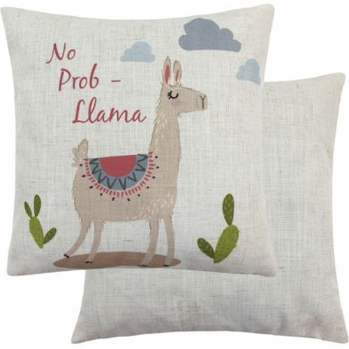 Evans Lichfield Fantasy Collection Cushion: No Prob-Llama 43cm x 43cm