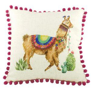 Pom Pom Llama Cushion (43cm)