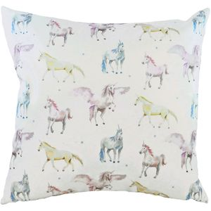 "Evans Lichfield Fantasy Collection Cushion Cover: Unicorn 17x17"""