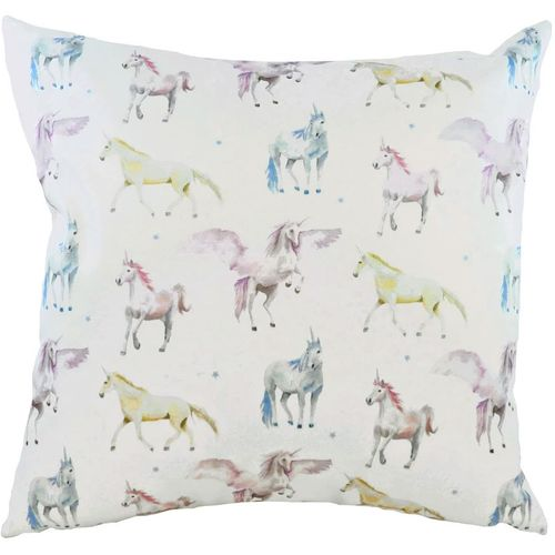Evans Lichfield Fantasy Collection Filled Cushion: Unicorns Square 43cm