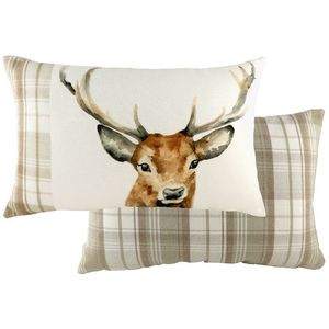 Evans Lichfield Hand Painted Animals Collection Cushion Cover: Stag 60x40cm