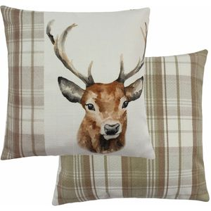 """Evans Lichfield Hand Painted Animals Collection Cushion Cover: Stag 17x17"""""""