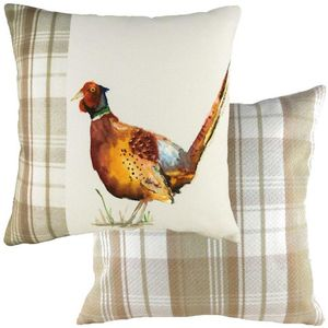 Evans Lichfield Hand Painted Animals Collection Cushion Cover: Pheasant