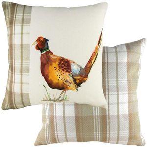 Evans Lichfield Hand Painted Animals Collection Cushion: Pheasant 43cm x 43cm