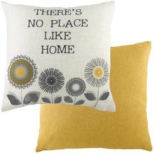 "Evans Lichfield Retro Collection Cushion cover: Home Ochre 17x17"""