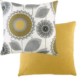 "Evans Lichfield Retro Collection Cushion Cover: Dandelion Nat/Ochre 17x17"""