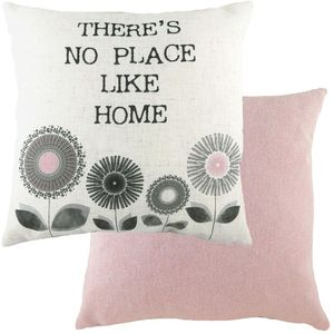 """Evans Lichfield Retro Collection Cushion Cover: Home Pink 17x17"""""""