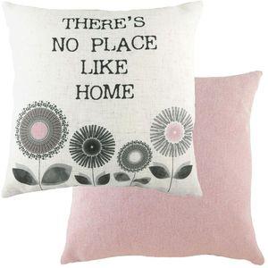 Evans Lichfield Retro Cushion: Home Pink 43cm