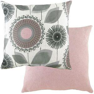 Evans Lichfield Retro Cushion: Dandelion Nat/Pink 43cm