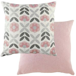 Evans Lichfield Retro Collection Cushion: Floral Pink 43cm x 43cm