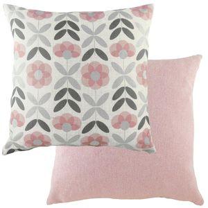 Evans Lichfield Retro Cushion: Floral Pink 43cm