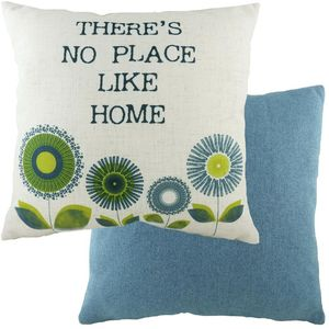 Evans Lichfield Retro Cushion: Home Denim 43cm