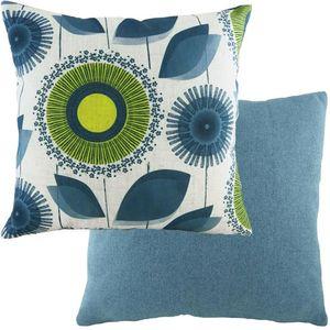 "Evans Lichfield Retro Collection Cushion Cover: Dandelion Nat/Denim 17x17"""