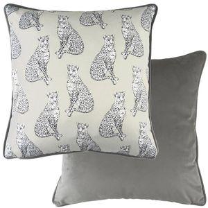 Evans Lichfield Safari Piped Cushion: Leopard 43cm