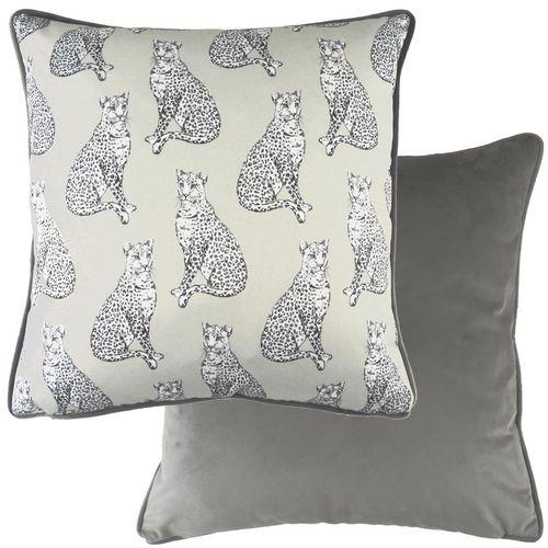 Evans Lichfield Safari Collection Piped Cushion: Leopard 43cm x 43cm