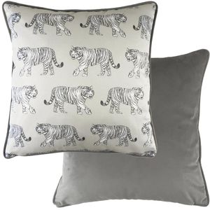 Evans Lichfield Safari Collection Piped Cushion Cover: Tiger 43cm x 43cm