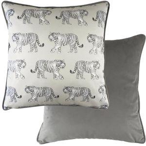 Evans Lichfield Safari Collection Piped Cushion: Tiger 43cm x 43cm