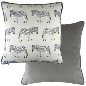 Evans Lichfield Safari Collection Piped Cushion: Zebra 43cm x 43cm