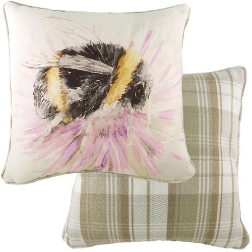 Evans Lichfield Watercolour Collection Piped Cushion: Bee 43cm x 43cm