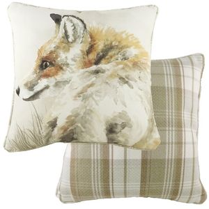 Piped Watercolour Fox Cushion (43cm)