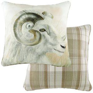Evans Lichfield Watercolour Piped Cushion: Ram 43cm