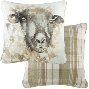 Piped Watercolour Sheep Cushion (43cm)