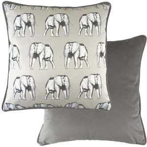 """Evans Lichfield Safari Collection Piped Cushion Cover: Elephant 17x17"""""""