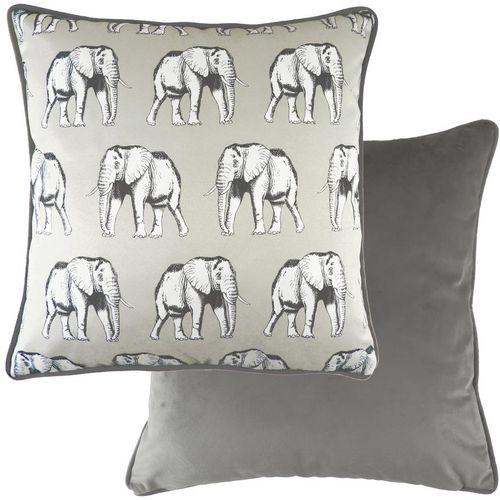 Evans Lichfield Safari Collection Piped Cushion: Elephant 43cm x 43cm