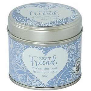 Sentiment Candle In Tin - Best Friend