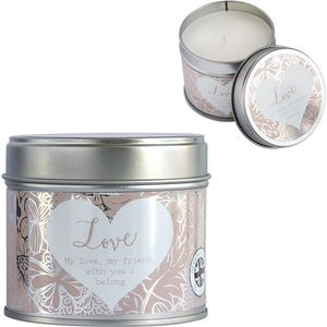 Said with Sentiment Candle in Tin - Love