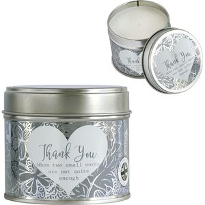 Said with Sentiment Candle in Tin - Thank You