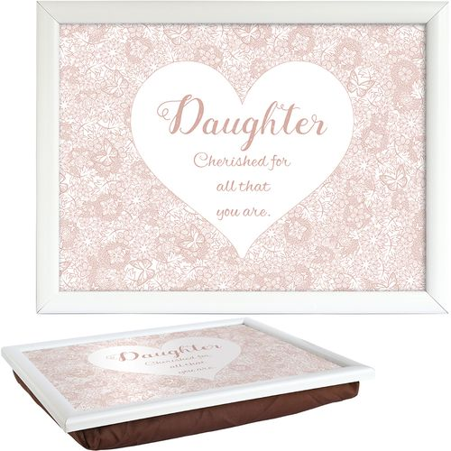 Said with Sentiment Lap Tray - Daughter