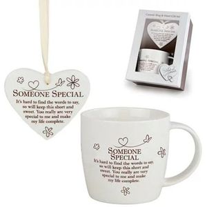 Said with Sentiment Heart & Mug Set: Someone Special