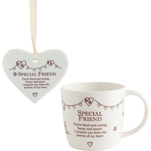 Said with Sentiment Heart & Mug Set: Special Friend