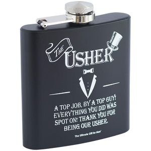 Ultimate Man Gift Hip Flask - The Usher