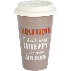 Ultimate Girl Gift Ceramic Travel Mug - Chocoholic