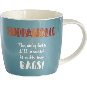 Mug In Hat Box - Shopaholic