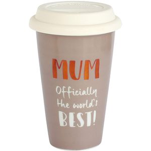 Ultimate Girl Gift Ceramic Travel Mug - Worlds Best Mum